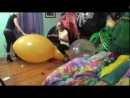 Gala and Girlfriend popping big balloons